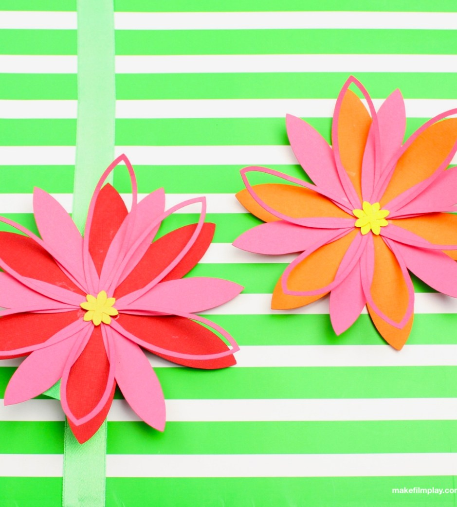 Paper Flowers Free Template Make Film Play