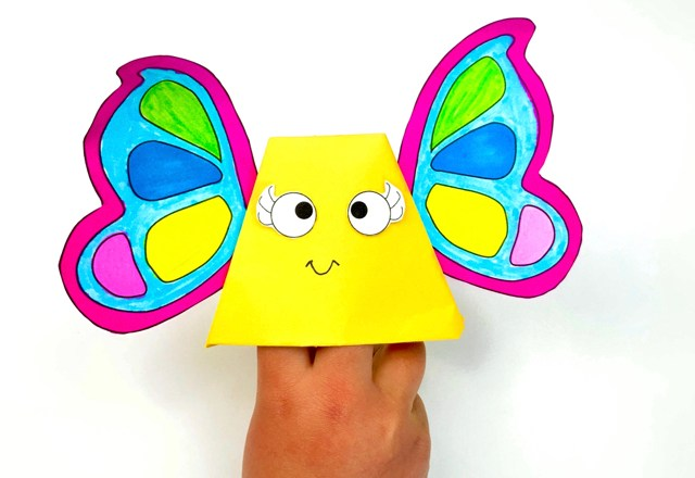 Origami Butterfly Puppet