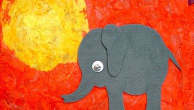Easy Elephant Craft For Kids