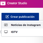 Make Good Art Facebook Creator Studio crear publicacion