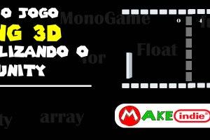 Criando um pong 3D no Unity - nova