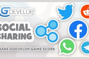 How to Share your GDevelop Game Score to a Social Media