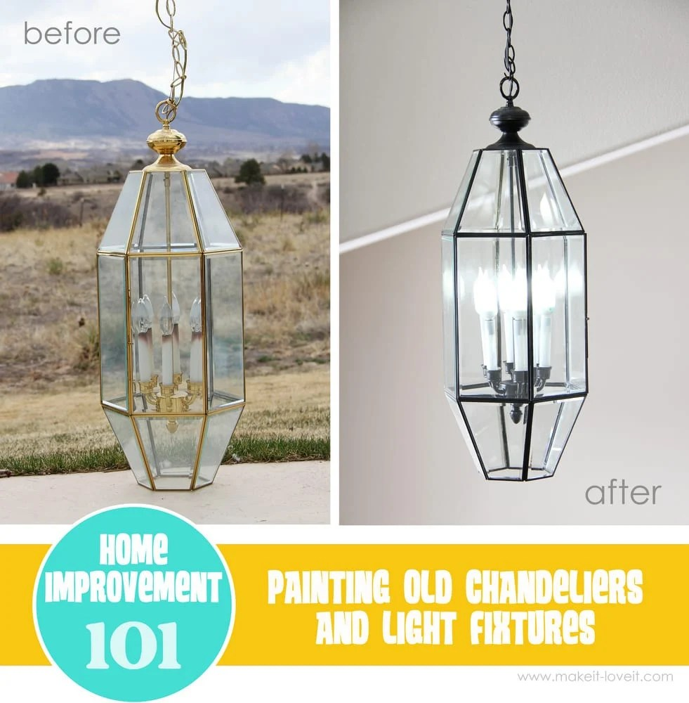 Refinishing Light Fixtures