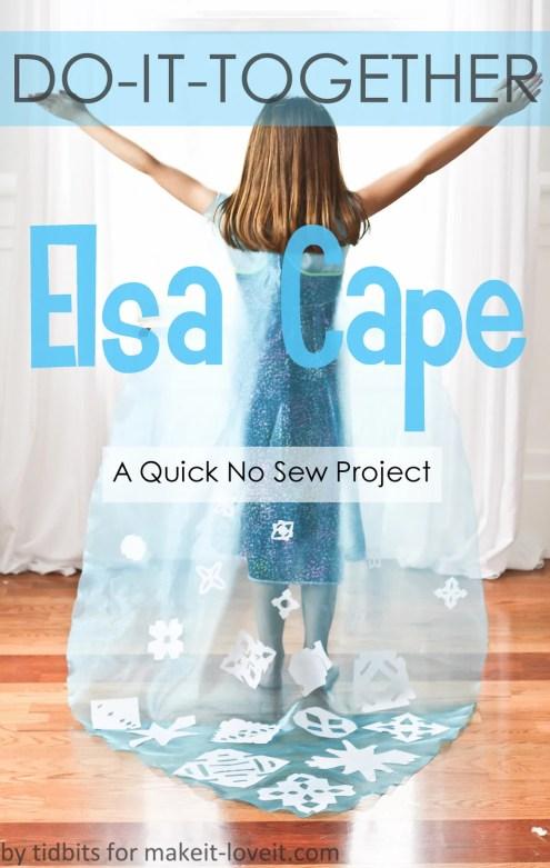 No-Sew ELSA CAPE (from
