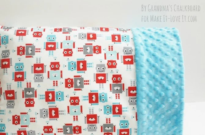 Travel-Sized Pillowcase (with Minky edge) --- Make It and Love It