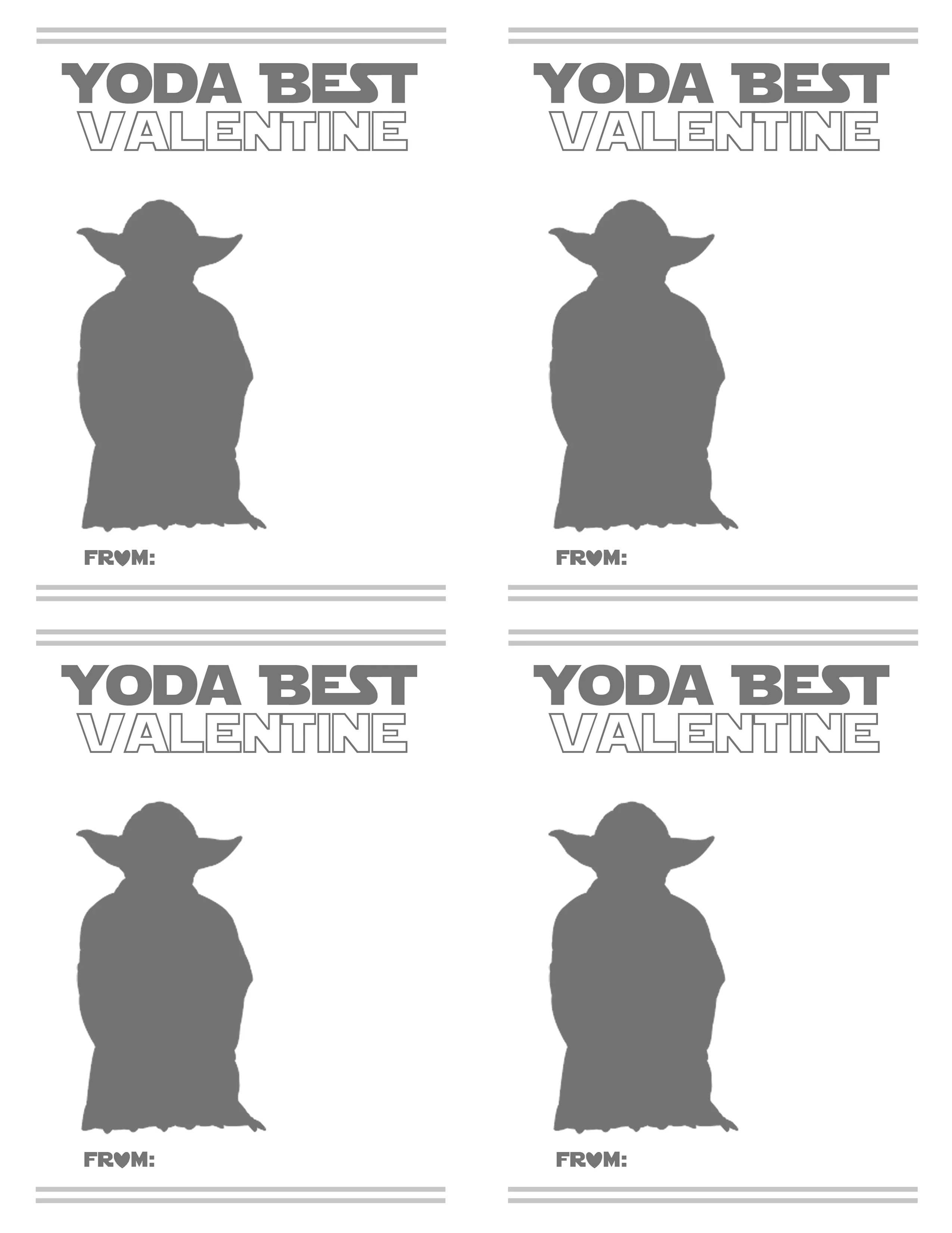 F R E E Valentine Card Printables Star Wars And Gummy Worm Themes