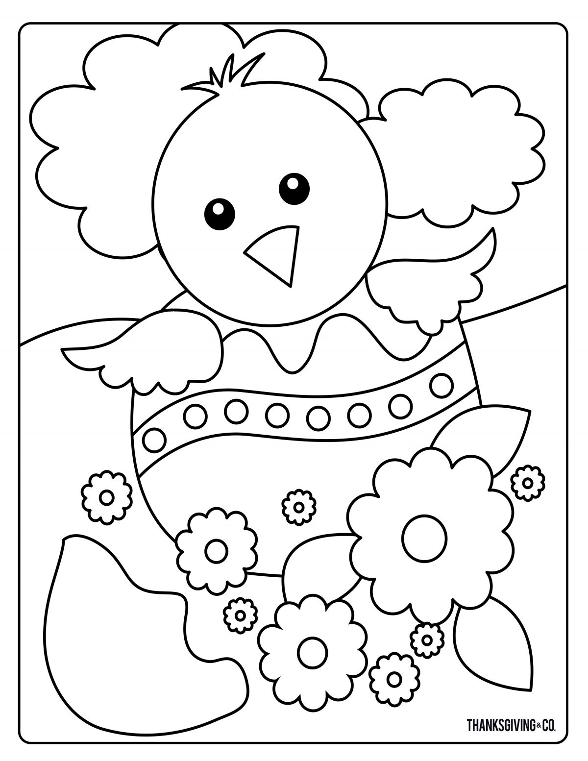 Sweet And Sunny Spring Amp Easter Coloring Pages