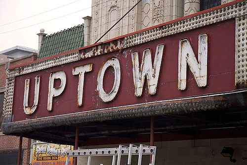 """Uptown Theater Marquee,"" from Red Line Project, via Make It Like a Man! Free Wi-Fi in Uptown"