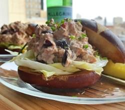 """Pretzel Tuna Sandwich,""from Make It Like a Man!"