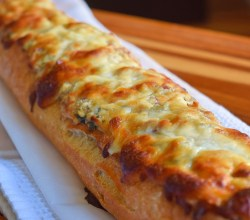 """Feta-Stuffed French Bread,"" from Make It Likea Man!"