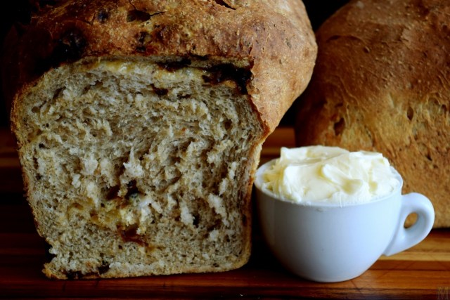 """Light Rye Bread with Onion, Garlic, Herbs, and Parmesan"" from Make It Like a Man!"