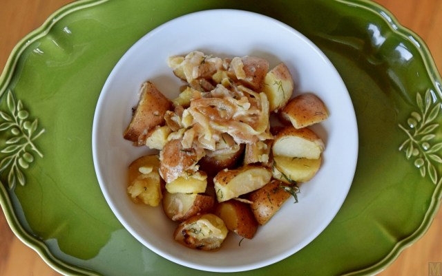 """Polish Boiled Potatoes with Onion and Dill,"" from Make It Like a Man!"