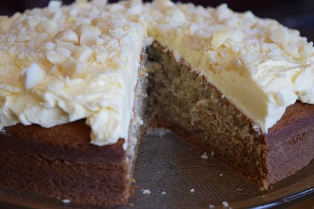 """Cordon Rose Banana Cake,"" from Make It Like a Man! Classic Lemon Buttercream Frosting"