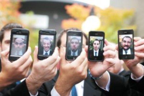 groomsmen and cellphones