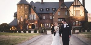 Couple in front of Dover Hall Venues