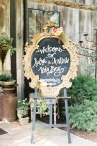 Welcome Wedding Planner Chalkboard