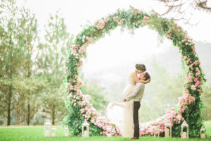 Wedding Brain floral archway