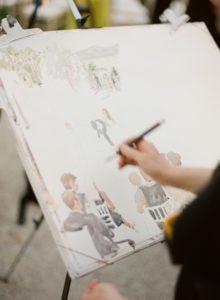 Wedding live painting portrait