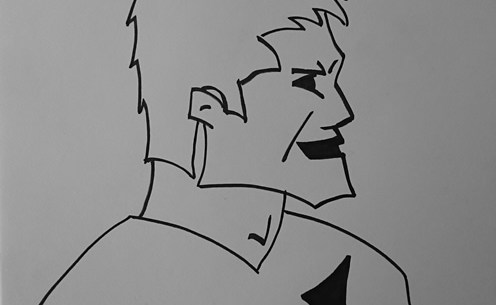 Richie McCaw - sketched by Make Lemonade NZ