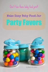 Upcycled Baby Food Jars: Baby Food Jar Party Favors
