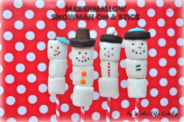 Marshmallow Snowman On A Stick Make Life Lovely