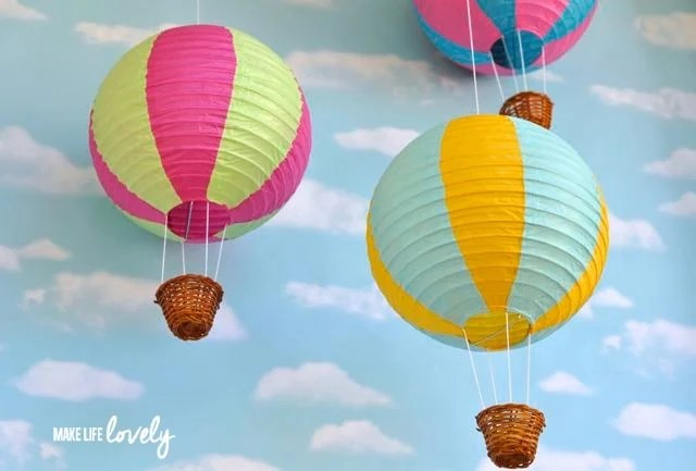 How to make paper lantern hot air balloons