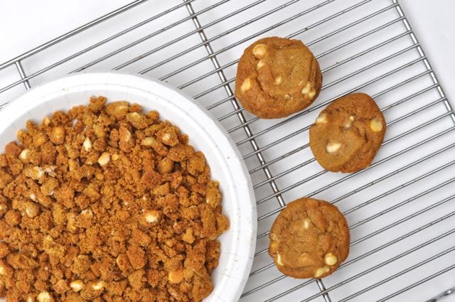 Crumble the cookies
