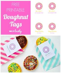 Free Printable Doughnut Tag + An Amazing Deal