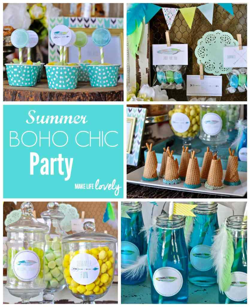 Summer Boho Chic Party by Make Life Lovely