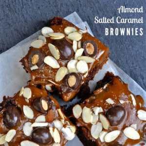 Almond Salted Caramel Brownies Recipe
