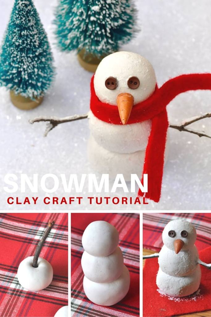 DIY snowman decoration to make with kids at Christmas. So cute!