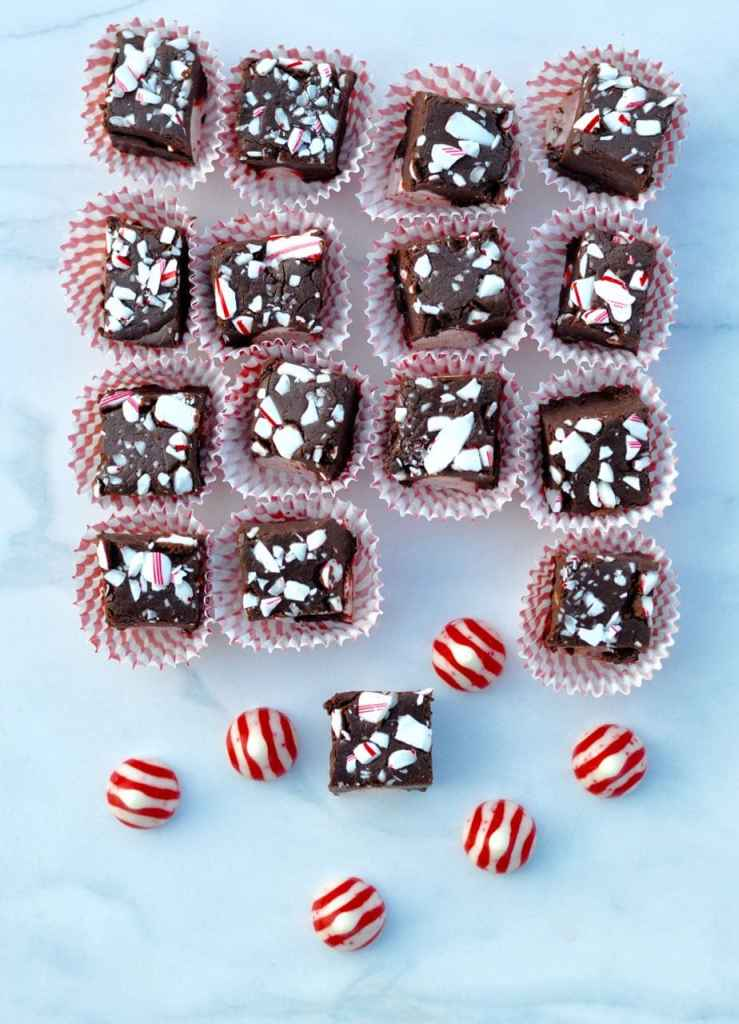 Dark Chocolate Peppermint Fudge Recipe