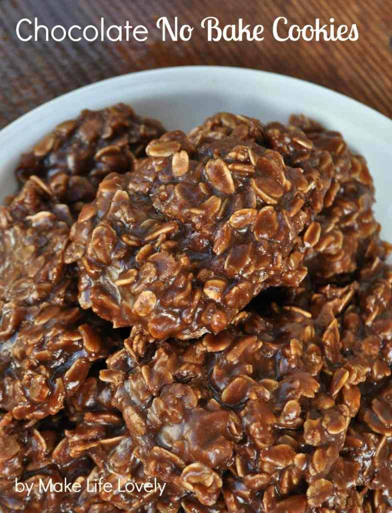 Chocolate No Bake Cookies Recipe