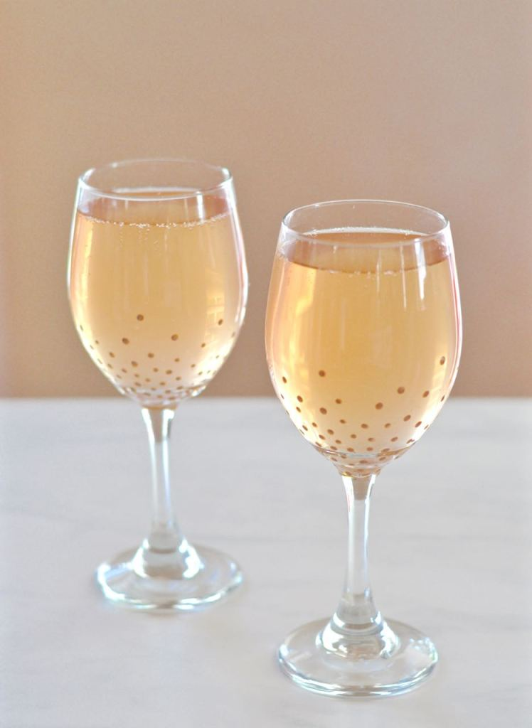 DIY Gold Painted Glasses