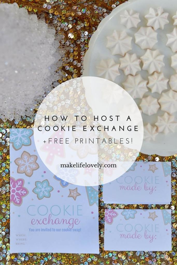 How to host a cookie exchange + free cookie swap printables