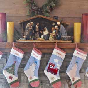 My Christmas Mantle Decorations