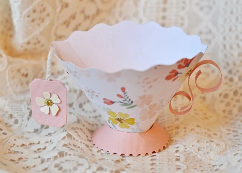 Paper teacup tea party favor tutorial