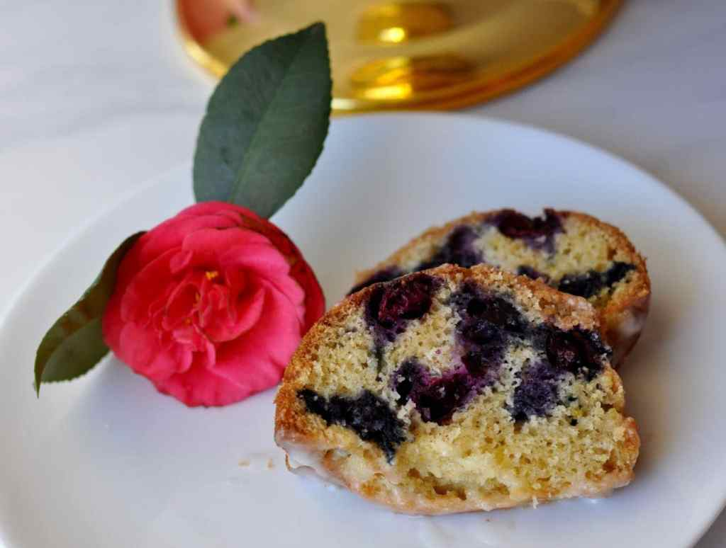 Lemon blueberry coffee cake. Dairy-free and the perfect treat for a brunch party!
