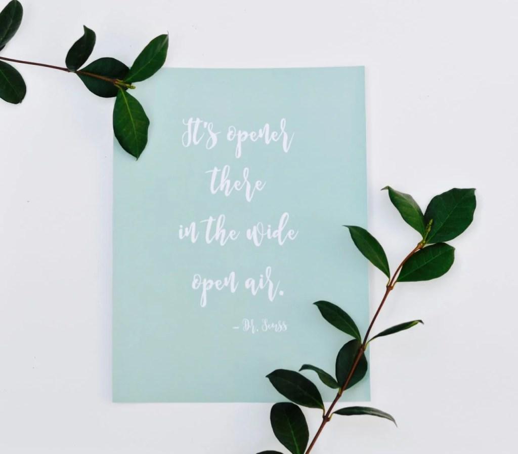 Free Printable Dr. Seuss Quotes