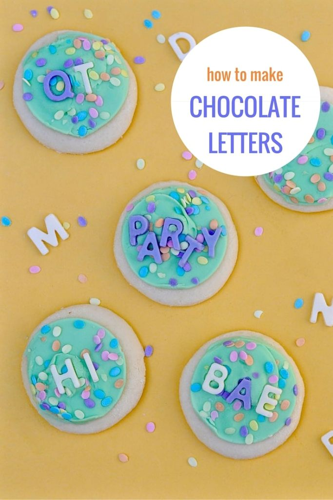 How to Make Chocolate Letters Tutorial | by Make Life Lovely