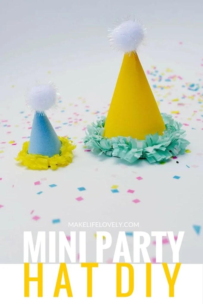 Mini Party Hats DIY Tutorial