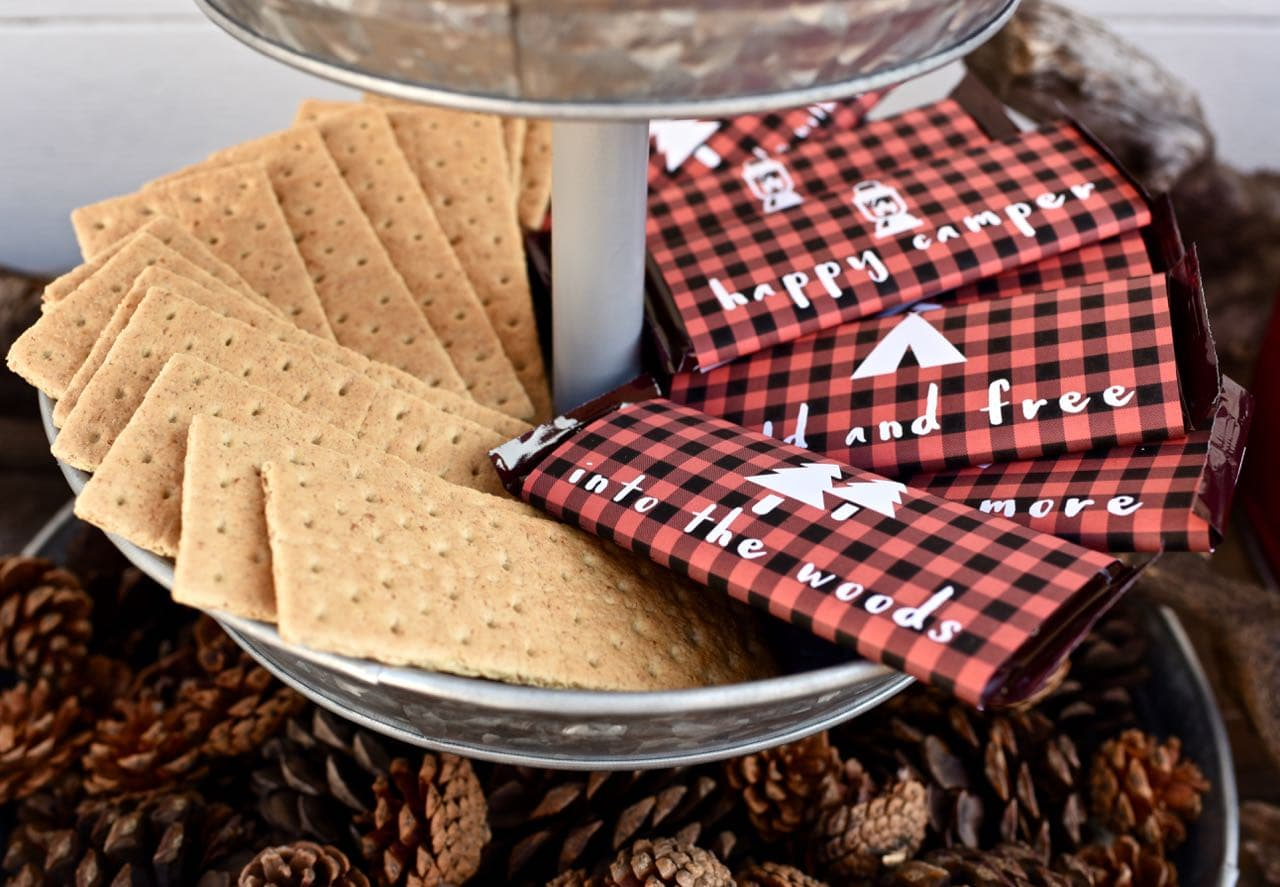 Free Printable Candy Bar Wrappers For A Backyard Camping Party