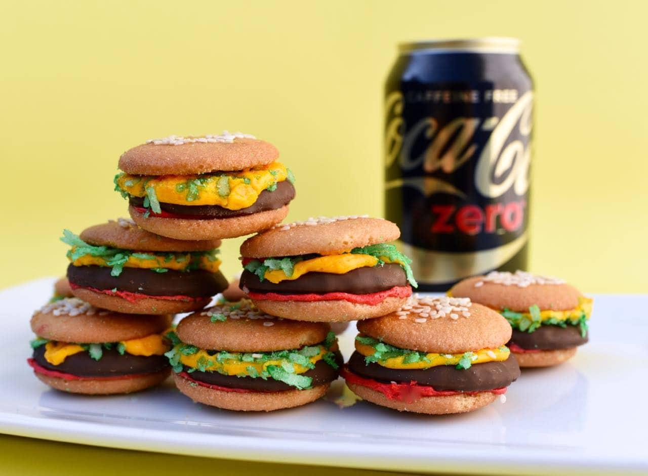 Hamburger Cookies with Nilla Wafers