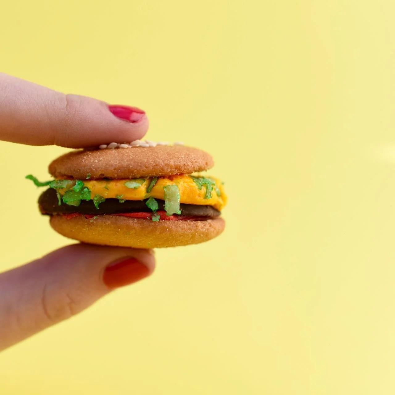 Mini Burger Cookies