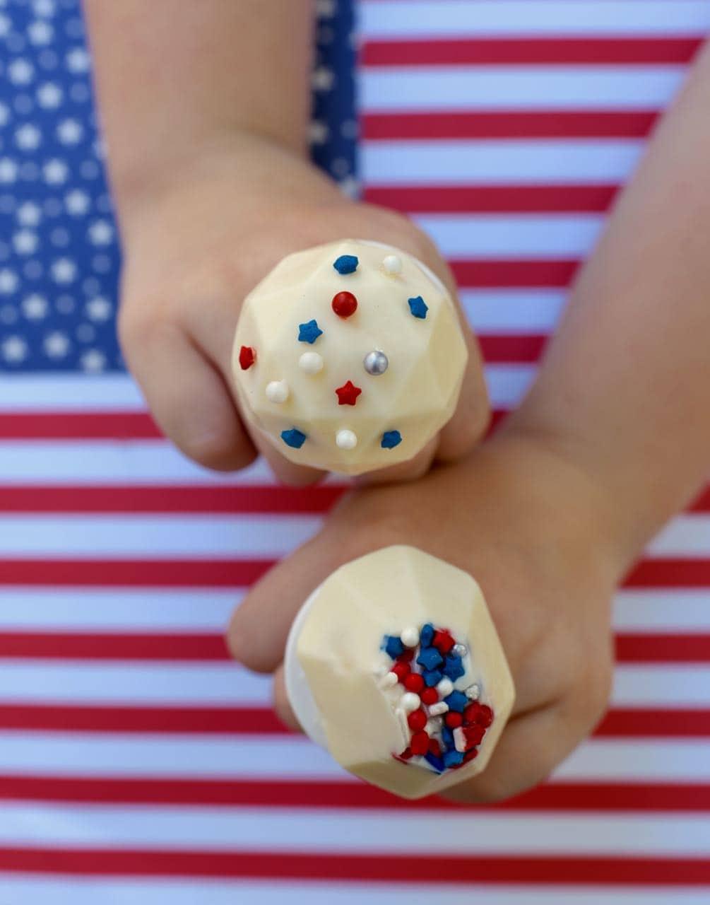 DIY Ring Pops Fourth of July Snack