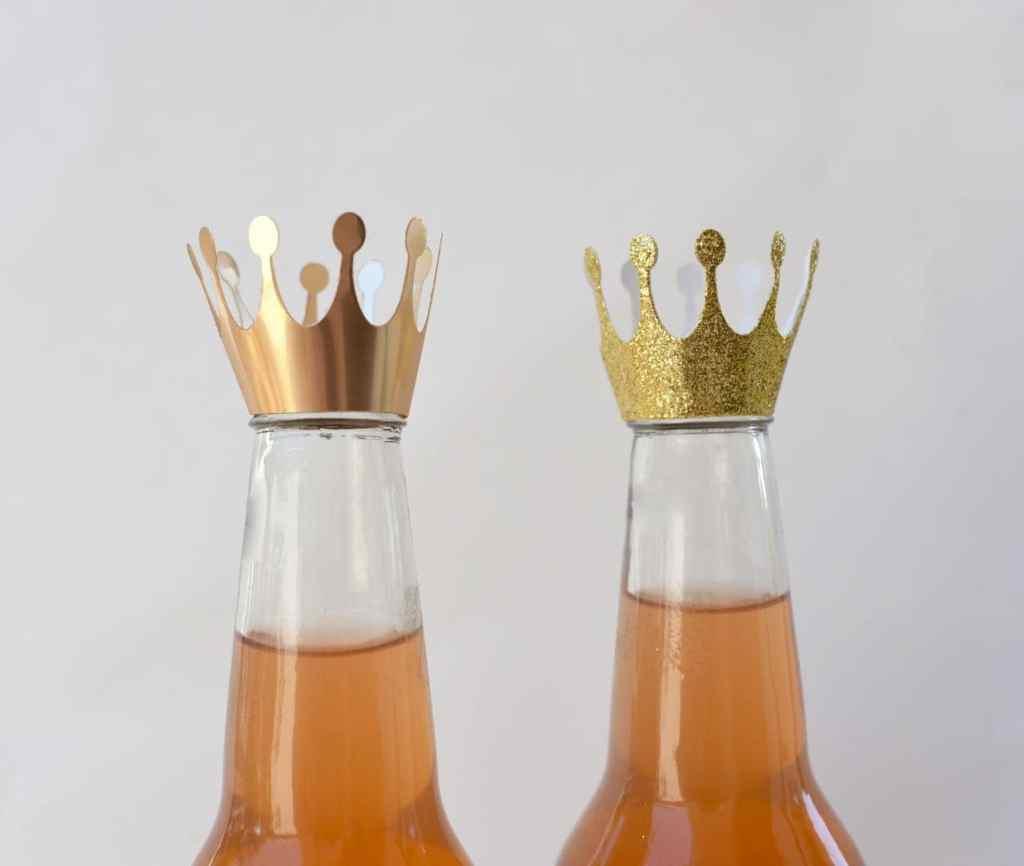 Princess crown bottle topper DIY