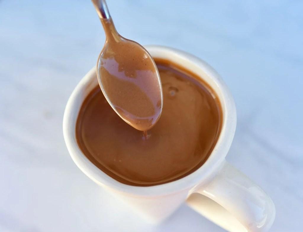 Coconut milk hot chocolate r