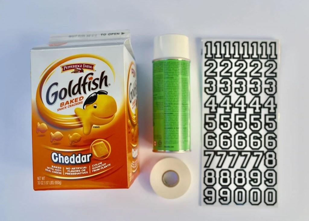 DIY Football toss supplies