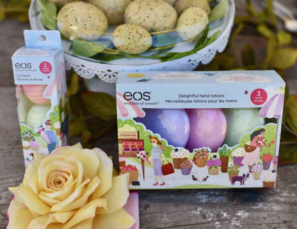 eos lip balm and hand lotion for spring