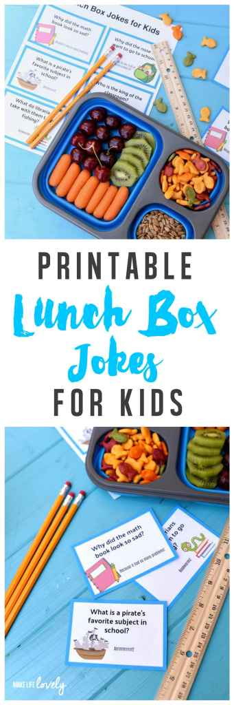 Free printable lunch box jokes for kids, perfect for back to school!